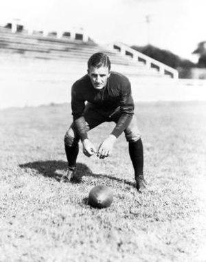 Ben Clemons - Clemons as football player, c. 1930