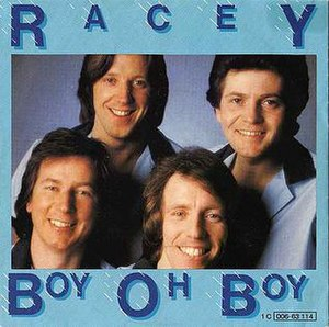 Racey - The original lineup of Racey, 1979.