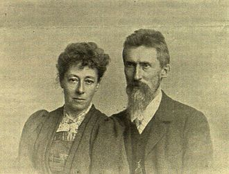 Eduard Seler - 1897 portrait of Eduard Seler and his wife Caecilie Seler-Sachs whose inherited fortune turned Eduard from a penniless lecturer into a traveling scholar.