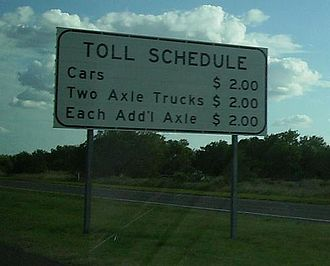 Texas State Highway 255 - Toll rates as seen on I-35 south in 2008