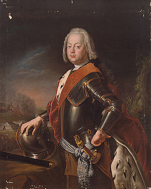 Christian August, Prince of Anhalt-Zerbst - Portrait of Christian August by Antoin Pesne, c. 1746
