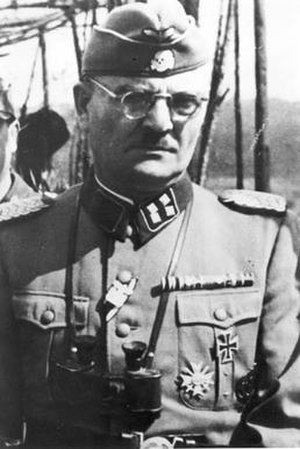 Gerstein Report - Action T4 director and commandant of Bełżec, Christian Wirth, in SS uniform