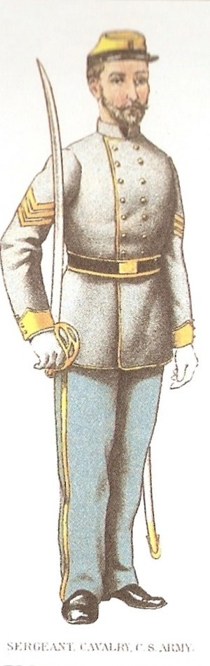 Uniforms of the Confederate States military forces - Confederate Cavalry Uniform, sergeant