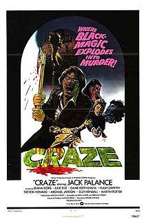 <i>Craze</i> (film) 1974 British film directed by Freddie Francis