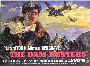 The Dam Busters (film) - 1955 British quad format film poster