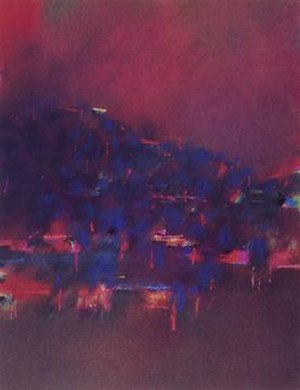 David Blackburn (artist) - Unknown Title (Belgrave), circa 1970s, 40x33.75 cm, pastel on paper.