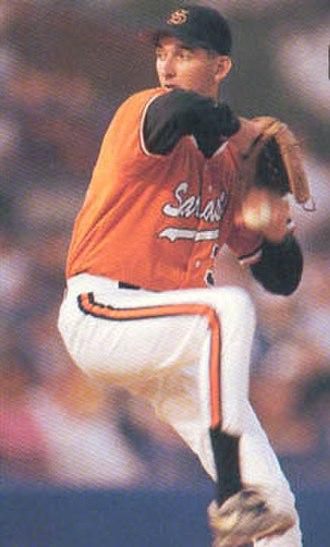 Doug Million - Million pitching for Sarasota High School