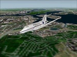 Fly! - Raytheon Hawker 800 in flight over Oahu, Hawaii.