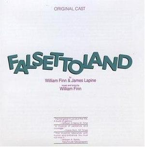 Falsettoland - Image: Falsettoland Original Cast Recording CD Cover