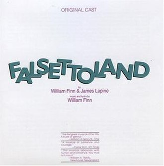 Falsettoland - Image: Falsettoland Original Cast Recording CD Cover