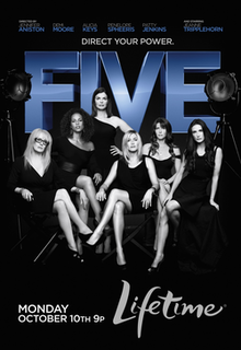 <i>Five</i> (2011 film) 2011 film directed by Penelope Spheeris, Patty Jenkins, Alicia Keys, Jennifer Aniston and Demi Moore