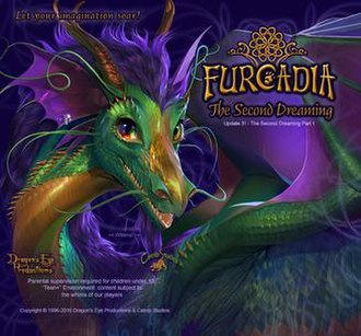 Furcadia - Login screen for Furcadia