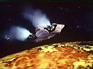A Vardan spaceship approaches Gallifrey from s...