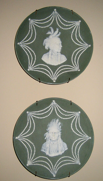 Jasperware - An American version of jasperware produced c. 1846, depicting Native Americans in a neoclassical style