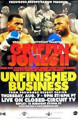 Montell Griffin vs. Roy Jones Jr. II - Image: Griffin vs Jones