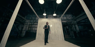 Brave (Josh Groban song) - For the official music video, Groban was filmed standing on a lighted platform in a warehouse setting.