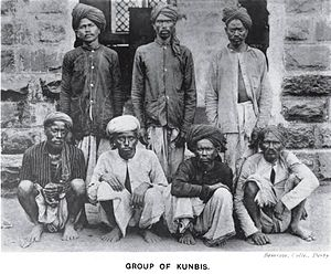 Kunbi - A group of Kunbis in Central India, 1916