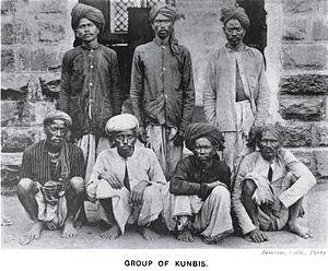 Kunbi - A group of Kunbis in Central India, 1916