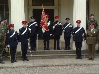 Queen's Own Yeomanry - QOY Guidon with Guard of Honour for TA 100 Celebrations