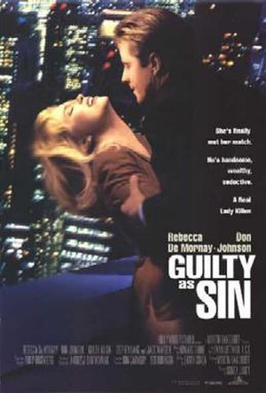 Guilty as Sin - theatrical release poster