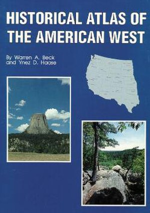 Historical Atlas of the American West - Front cover of Historical Atlas of the American West, 1989 edition.