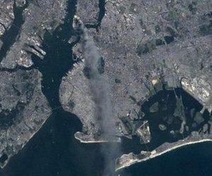 Expedition 3 - ISS picture of New York City on 9/11