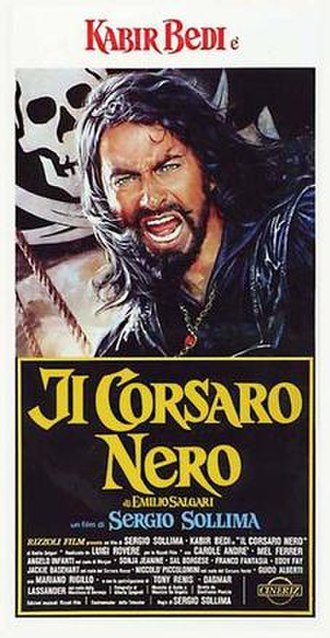 The Black Corsair (1976 film) - Image: Il corsaro nero italian movie poster md
