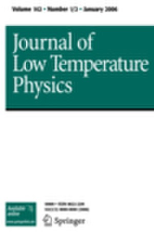 Journal of Low Temperature Physics - Image: J Low Temp Phys cover