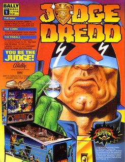 <i>Judge Dredd</i> (pinball) pinball game produced by Bally Manufacturing in 1993
