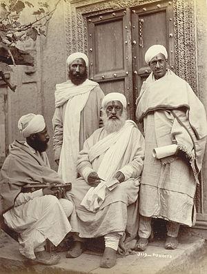 Kashmiri Pandit - Image: Kashmir Pundit 1895British Library