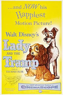 <i>Lady and the Tramp</i> 1955 American animated romantic musical comedy-drama film produced by Walt Disney