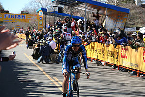 Levi Leipheimer winning Stage 5 of the Amgen T...