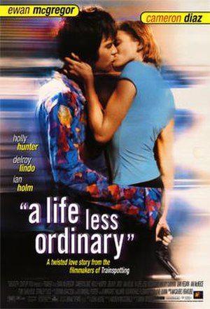 A Life Less Ordinary - Theatrical release poster