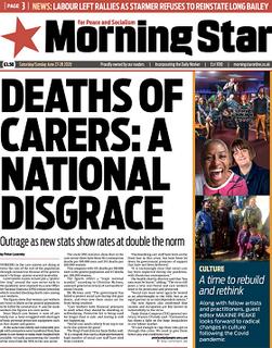 <i>Morning Star</i> (British newspaper) British daily tabloid format newspaper