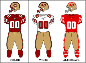 1998 San Francisco 49ers season - Image: NFCW 1998 2008 Uniform SF