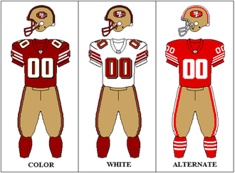 2002 San Francisco 49ers season - Image: NFCW 1998 2008 Uniform SF
