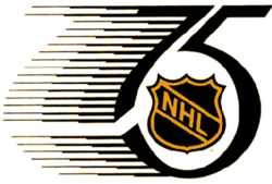 The NHL 75th anniversary logo
