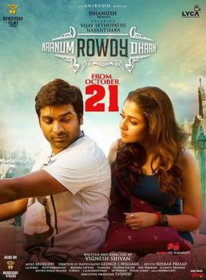 Naanum Rowdy Dhaan - Theatrical release poster