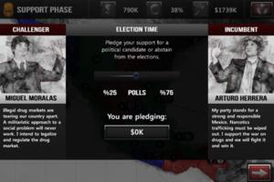 NarcoGuerra - Elections Screen