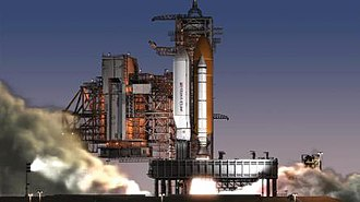Shuttle-Derived Launch Vehicle - Artist impression of the Shuttle-Derived HLV concept
