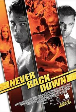Never Back Down - Theatrical release poster