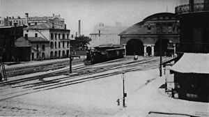 History of Rochester, New York - The New York Central Railroad train station built in 1853.