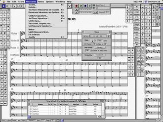 Overture (software) - Image: Overture Screenshot Pachelbel Kanon