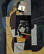 Pablo Picasso, 1913-14, L'Homme aux cartes (Card Player), oil on canvas, 108 x 89.5 cm, Museum of Modern Art, New York.jpg