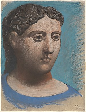 Return to order - Pablo Picasso, 1921, Head of a woman, pastel on paper, 65.1 x 50.2 cm, Metropolitan Museum of Art, New York