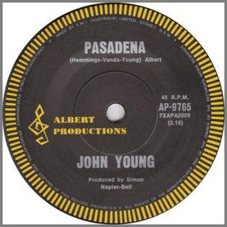 Pasadena (song) - Image: Pasadena (Single Cover)