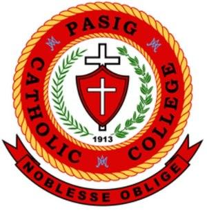 Pasig Catholic College - Image: Pasig catholic seal