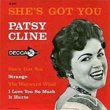 Image result for patsy cline she's got you