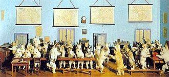 Taxidermy - Walter Potter's Rabbit School, 1930s