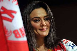 Kings XI Punjab - Co-owner Preity Zinta often turns up for her team's matches.